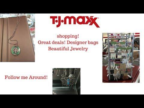 Shopping At TJ MAXX Follow Me Around!  Beautiful Jewelry!