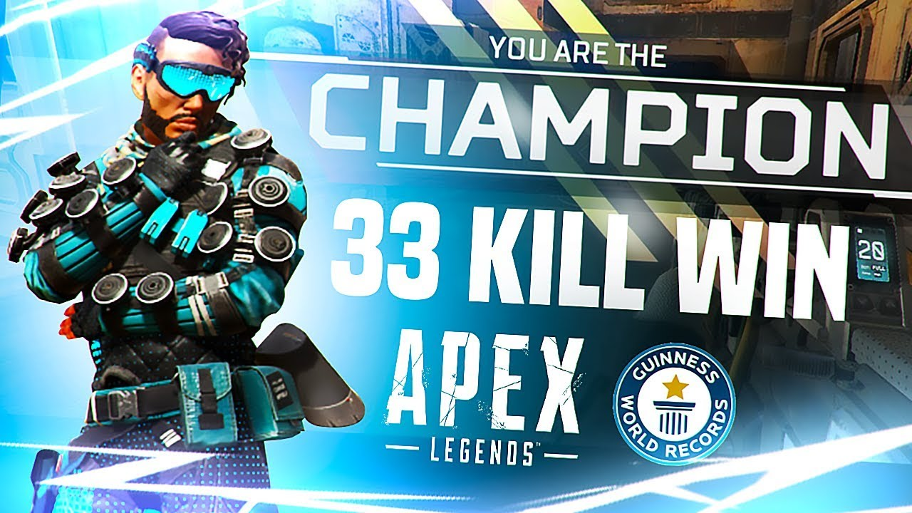 *WORLD RECORD* 33 Kill Game on Apex Legends