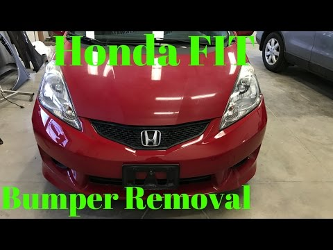 2006 2007 2008 2009 HONDA FIT---- Front Bumper Removal Replace Intall