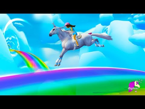 Amazing Cloud World ! Rainbow Race + Gold Horse Shoes - Star Stable Online