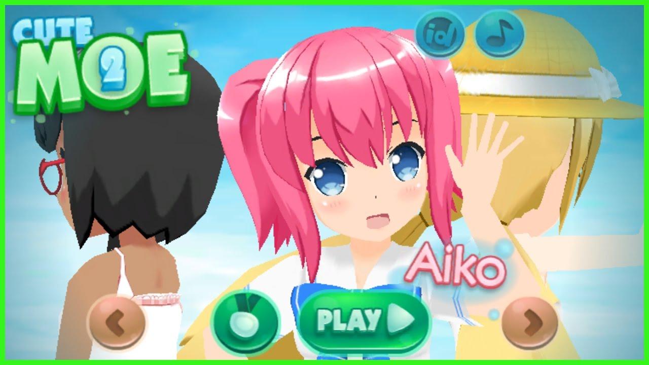 Dress Up Anime Game Cute Moe 3d 2 Dressup Free Game