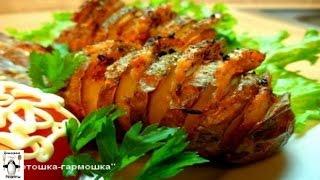 Запеченный картофель в духовке рецепт.Картофель Гармошка