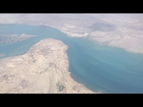 Aerial View of Strait of Hormuz - May 2019