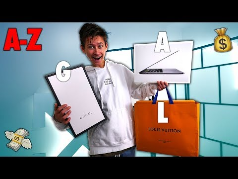 BUYING My Little Brother EVERY ITEM From A-Z (EXPENSIVE)