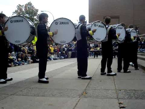 Michigan Marching Band Bass Line Step Show Revelli Hall