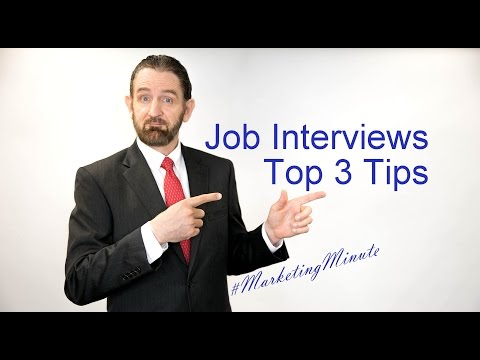 "Marketing Minute 049 ""Top 3 Job Interview Tips"" (Marketing Yourself / Personal Branding)"