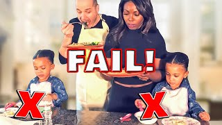 DAD TRIES TO COOK FOR TWIN DAUGHTERS