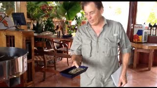 How Green Coffee Beans are Roasted - El Avion Restaurant Café, Costa Rica - Mar 3, 2013