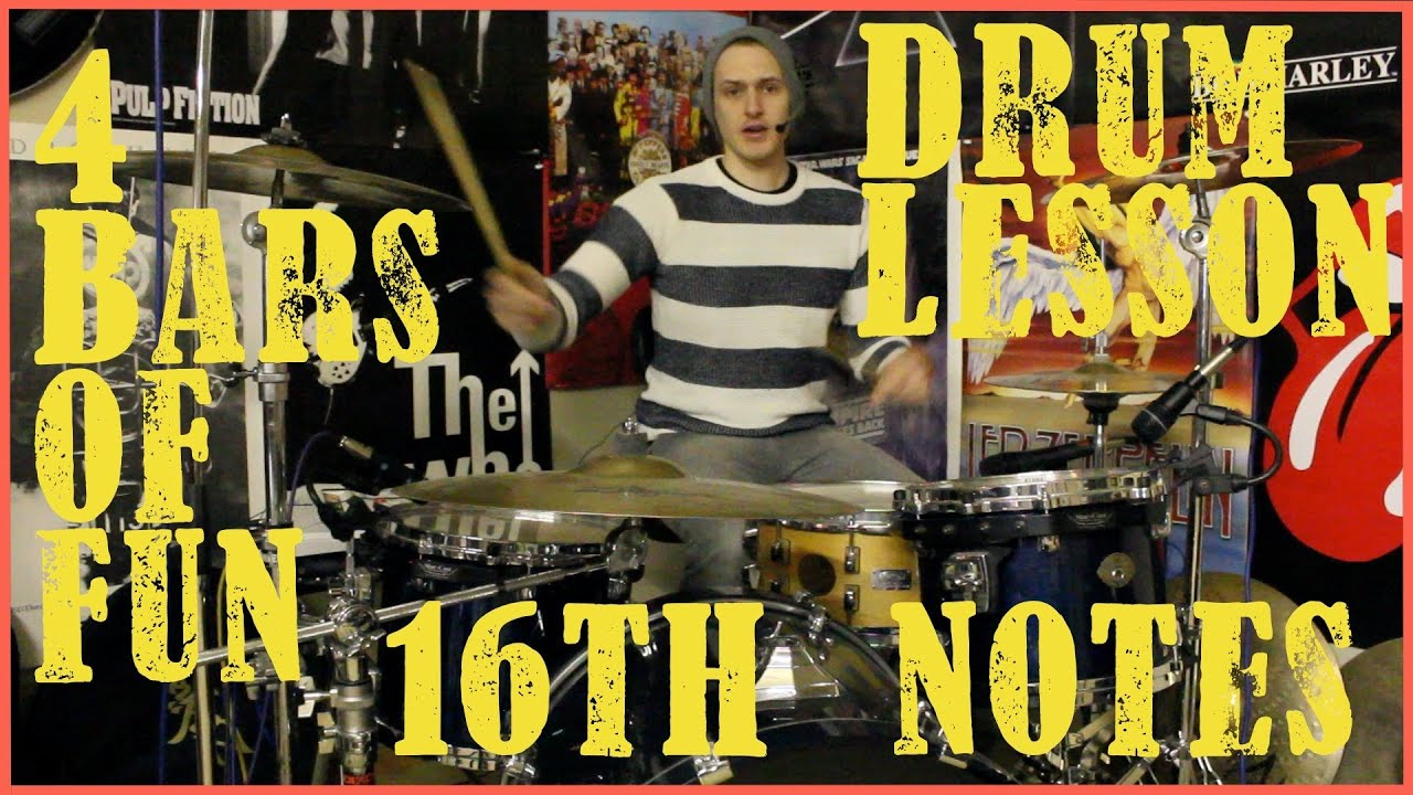 4 Drum Beats - 16th Notes - Drum Lessom #139