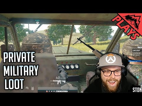 PRIVATE MILITARY LOOT - PlayerUnknown's Battlegrounds Gameplay #134 (PUBG First Person Squad)