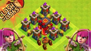 """Clash of Clans - """"ARCHER TOWER DEFENSE 2.0!"""" The ULTIMATE BASE IS BACK! Weird Defensive Layout"""