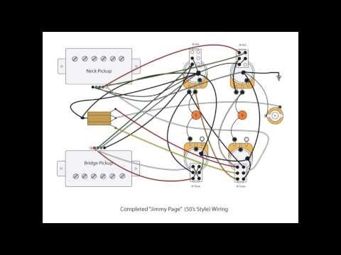 Wiring Diagram For Les Paul Style Guitar Plc Diagrams Tutorials Jimmy Page (diy) 50's Mod - Cp Fun & Music Videos