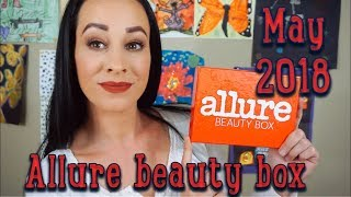 May 2018 Allure Beauty Box... try on style!!