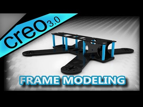 Design a Basic Drone Racing Frame | Creo 3