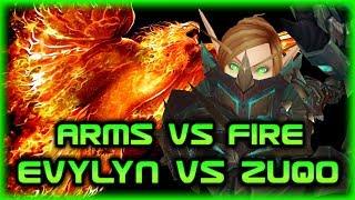 EVYLYN VS ZUQO - Arms warrior vs Fire Mage - Arms Warrior 1v1 PvP Duels - Legion 7.3.2 1v1 duels