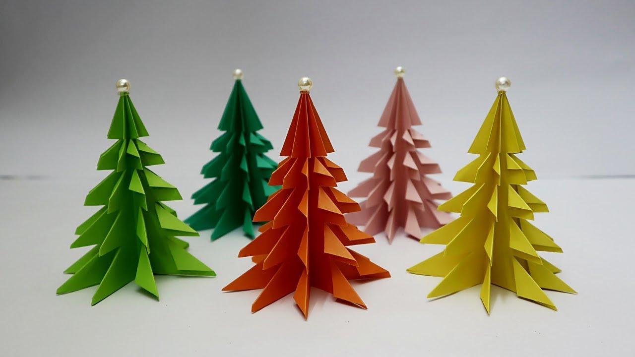 3d Paper Christmas Tree Easy Tabletop Christmas Tree Christmas