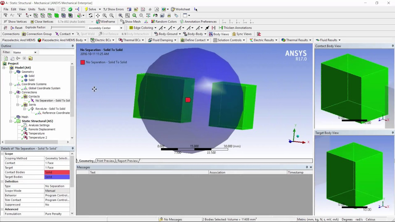 How to Model Direct Thermal-Structural Coupling w/ ACT Object in ANSYS  Mechanica Workbench