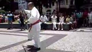 Sensei Shinzato performs Kata in Karate show