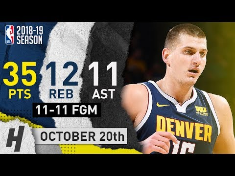 Nikola Jokic Triple-Double Highlights Nuggets vs Suns 2018.10.20 - 35 Pts, 12 Reb, 11 Ast