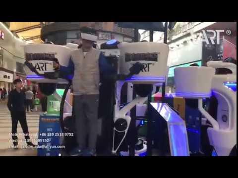 VART VR flyling simulator in the business street