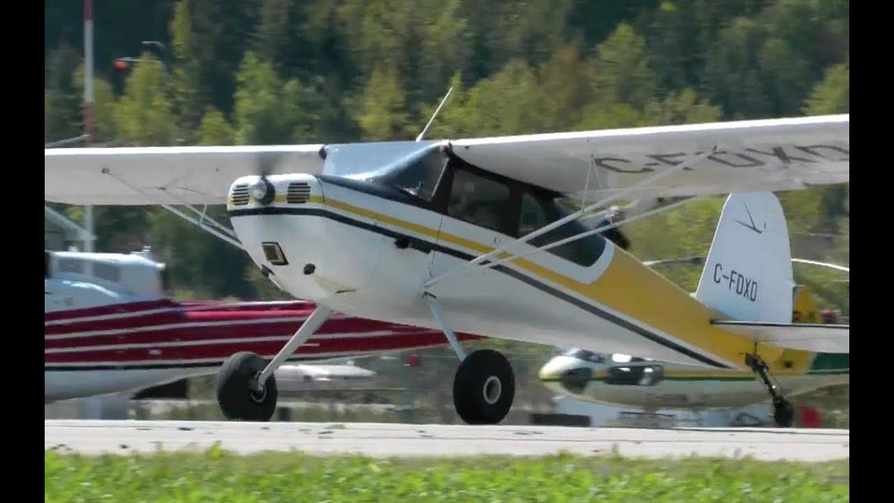 Classic Cessna 140 Takeoff
