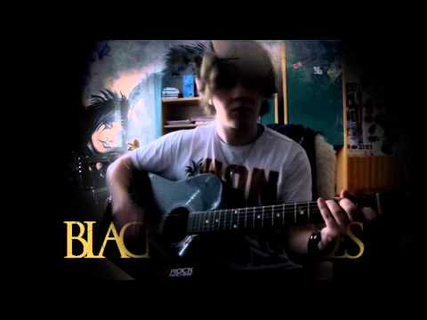 Black Veil Brides Knives And Pens cover (cover on acoustic guitar with Lyrics) vocal voice cover