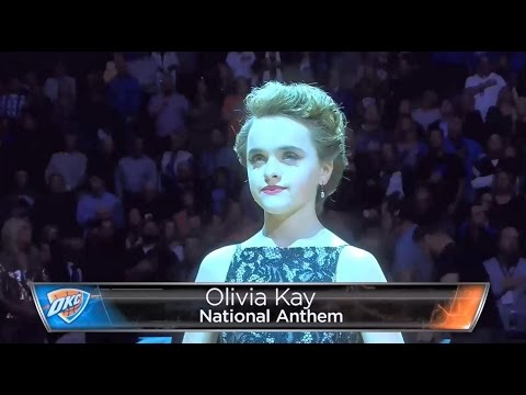 Olivia Kay- OFFICIAL NBA Thunder vs Clippers NYE 2016 National Anthem