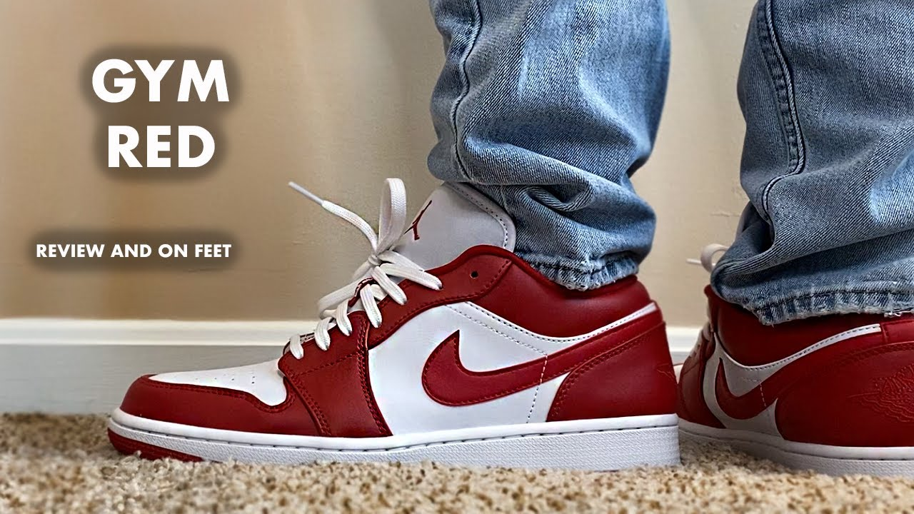 Jordan 1 Low Gym Red Review And On Feet Youtube