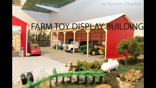 Materials for building a 1/64 farm toy display