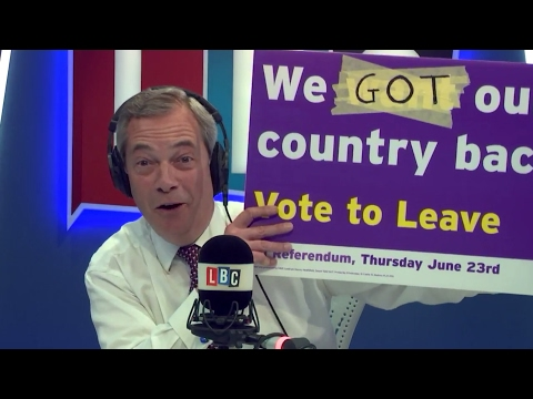 The Nigel Farage Show: Article 50 Special. Live LBC - 29th March 2017