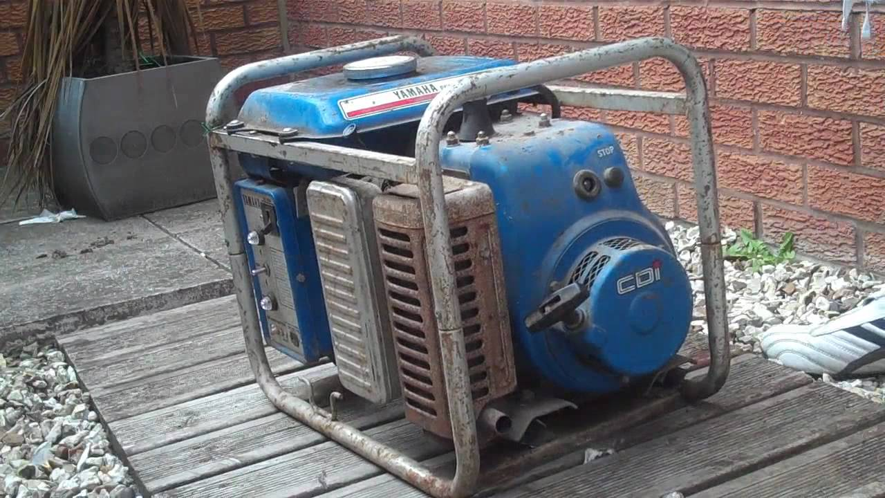 Yamaha generator running youtube for Yamaha generator for sale