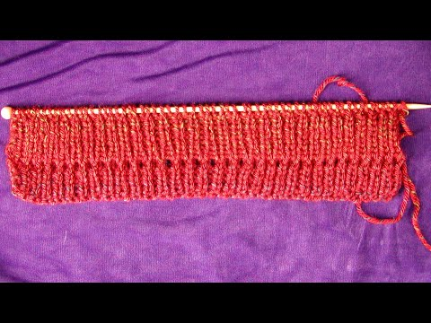 Knitting Stitches And Abbreviations : Knitting Abbreviations: yo or Yarn Over - YouTube