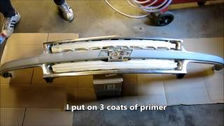 Painting A Chrome  Grill Of A 2001 Chevy  Suburban