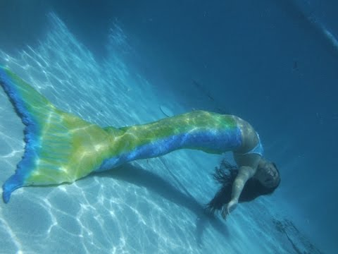 Swimming in an Unpainted Mermaid Tail!