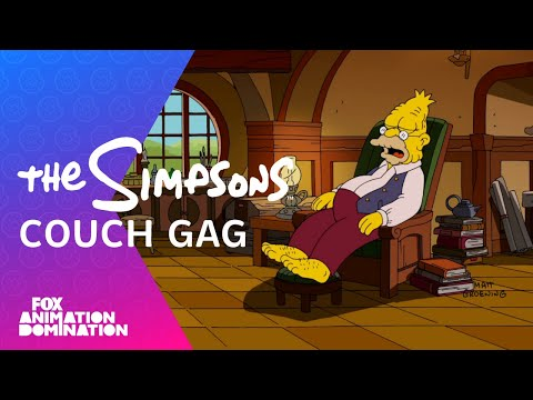 """""""The Hobbit"""" Couch Gag   Season 25 Ep. 3   THE SIMPSONS"""