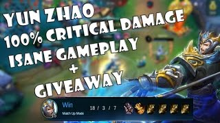 Mobile Legends Yun Zhao: 100% CRITICAL DAMAGE