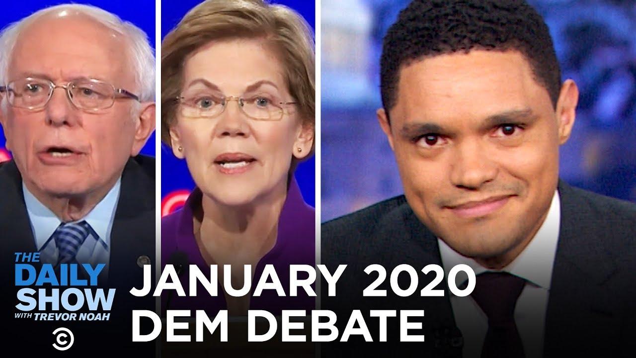 January 2020 Democratic Debate In Iowa The Daily Show Youtube