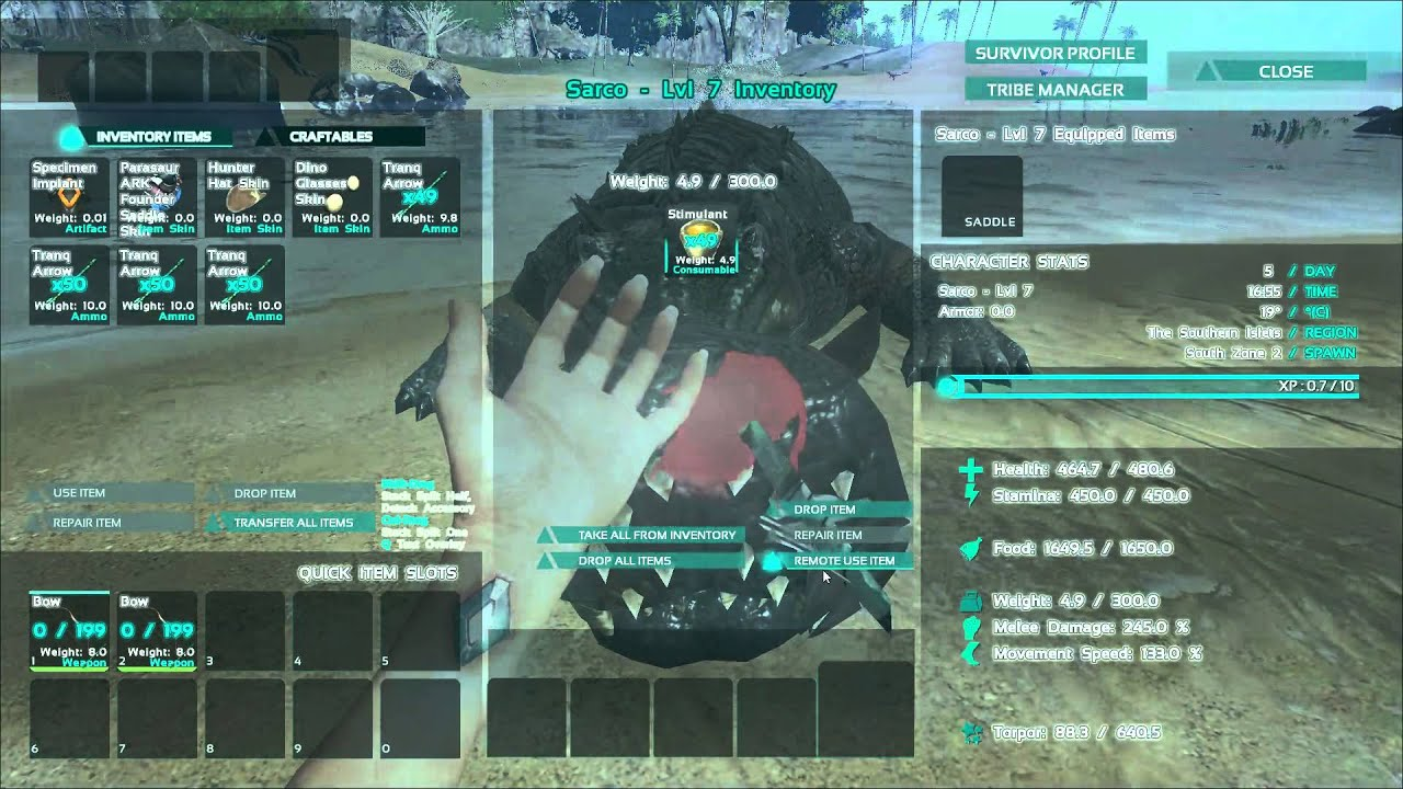 ARK: Survival Evolved   Bow Quality Affects Torpor. (OLD And Now Common  Knowledge)