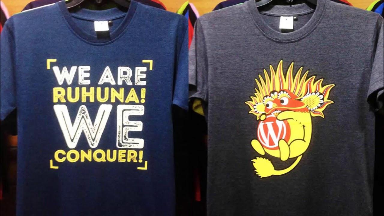 Custom Promotional T Shirts Sri Lanka Youtube
