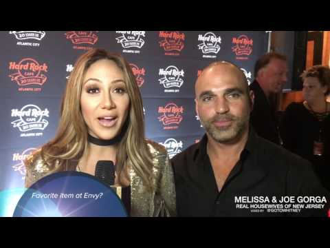 "Melissa Gorga of RHONJ ""I am terrifed of the dark"" - Talks Envy favorites at Hard Rock 20th"