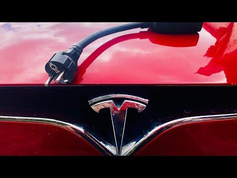 #90 Tesla nabíjení z 230V (Adamův Dvůr) | Teslacek