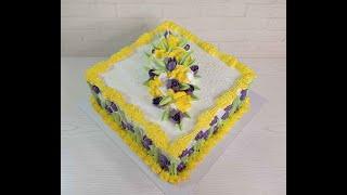 украшение торта за 30 МИНУТ ОБЗОР насадки СФЕРА Украшение белково заварным кремом Торт на Юбилей