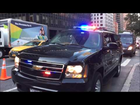 COMPILATION OF NYPD, U.S. SECRET SERVICE & DIPLOMATIC SECURITY SERVICES ESCORTING MOTORCADES.