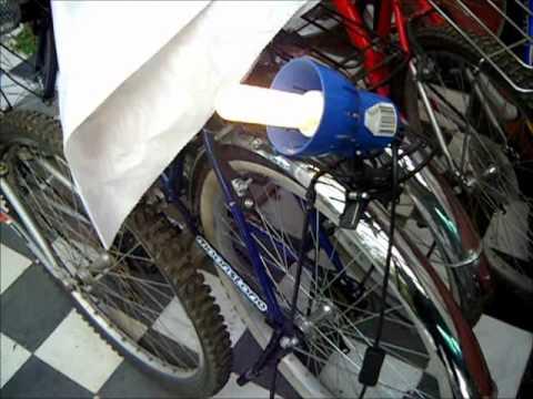 Bicicleta generador de electricidad a bajas rpm bike - Generador de luz ...