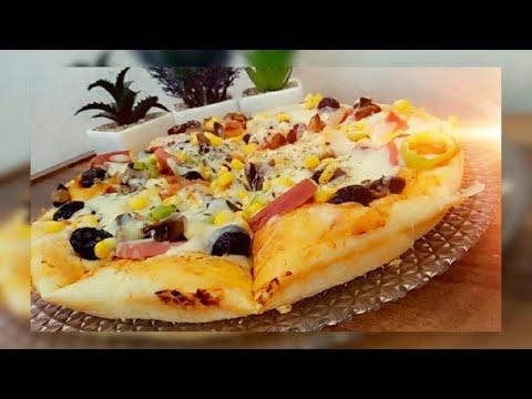صورة  طريقة عمل البيتزا طريقة عمل البيتزا بالتفصيل المريح والنتيجة مضمونة مية بالمية 👍 بمكونات موجودة بكل بيت 🥰🌹 طريقة عمل البيتزا من يوتيوب