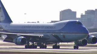 Air Force One and President Obama in Boston 3-8-2011