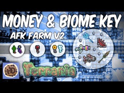 Terraria AFK Biome Key & 25+ Platinum Per Hour Money Farm V2 (1.3 tested & works)