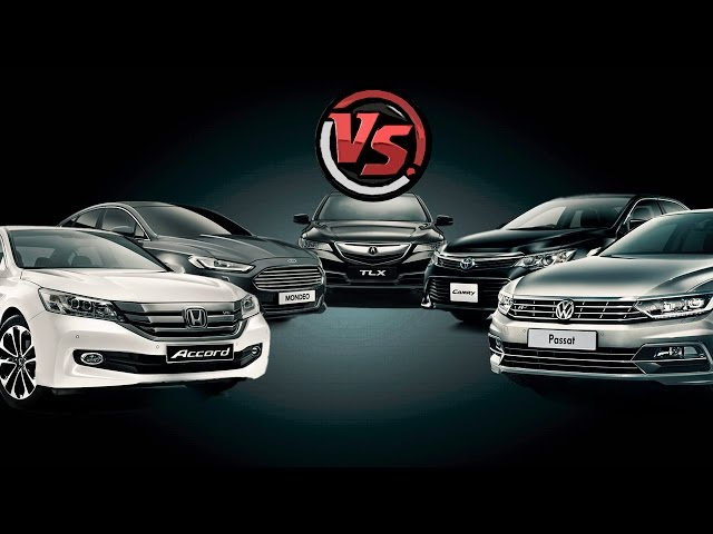 Битва Титанов. Сравнительный тест. Camry, Accord, Mondeo, Passat, Acura TLX