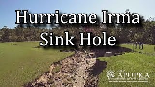Long Sinkhole Created By Hurricane Irma - Natural Disaster