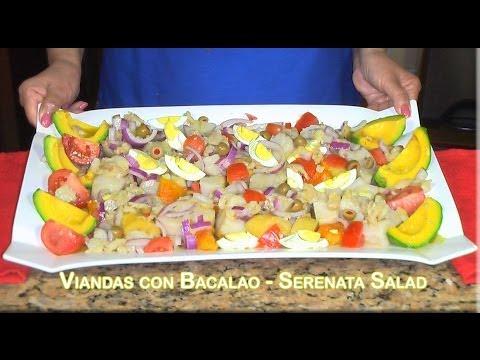 Viandas con bacalao serenata salad puerto rican youtube - Bacalao con garbanzos y patatas ...